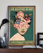 She breathes in dirt and exhales flowers 11x17 Poster lifestyle-poster-2