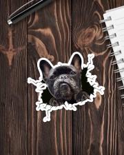 Funny dog breaking glass Sticker - Single (Vertical) aos-sticker-single-vertical-lifestyle-front-05