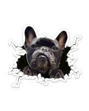 Funny dog breaking glass Sticker - Single (Vertical) front