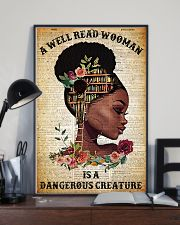 read woman is a dangerous creature 24x36 Poster lifestyle-poster-2
