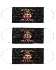 hippie assuming im just an old lady Cloth Face Mask - 3 Pack front