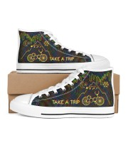 1943 Hofmann Bicycle Day Take A Trip Men's High Top White Shoes inside-left-outside-left