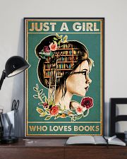 Just a girl who loves books 24x36 Poster lifestyle-poster-2