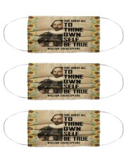 Shakespeare This Above All To Thine Own Self Cloth Face Mask - 3 Pack front