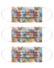 Color multi rabbit Cloth Face Mask - 3 Pack front