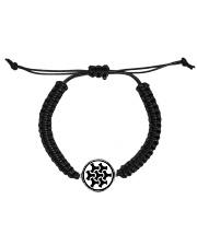 Celtic Button Knot Cord Circle Bracelet thumbnail