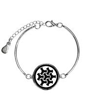 Celtic Button Knot Metallic Circle Bracelet thumbnail