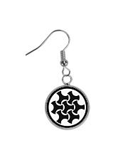 Celtic Button Knot Circle Earrings thumbnail