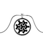 Celtic Button Knot Metallic Circle Necklace thumbnail