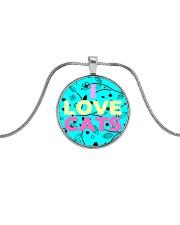 I Love Cats Necklaces Metallic Circle Necklace thumbnail
