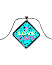 I Love Cats Necklaces Metallic Diamond Necklace thumbnail