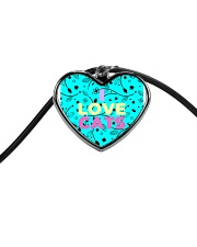 I Love Cats Necklaces Cord Heart Necklace thumbnail