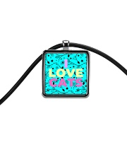 I Love Cats Necklaces Cord Rectangle Necklace thumbnail