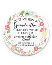 Great-Grandmother Special Circle ornament - single (porcelain) front