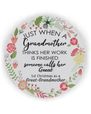 Great-Grandmother Special Circle Ornament (Wood tile