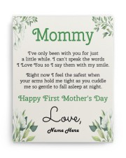 Mommy First Mother's Day 11x14 Gallery Wrapped Canvas Prints aos-canvas-pgw-11x14-ghosted-front-02