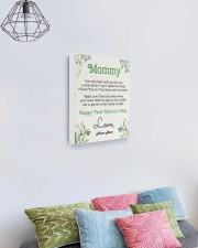 Mommy First Mother's Day 11x14 Gallery Wrapped Canvas Prints aos-canvas-pgw-11x14-lifestyle-front-02