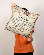 """To My Handsome Great-Grandson Indoor Pillow - 16"""" x 16"""" aos-decorative-pillow-lifestyle-front-02"""