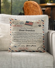 """To My Handsome Great-Grandson Indoor Pillow - 16"""" x 16"""" aos-decorative-pillow-lifestyle-front-04"""