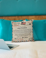 """To My Handsome Great-Grandson Indoor Pillow - 16"""" x 16"""" aos-decorative-pillow-lifestyle-front-14"""