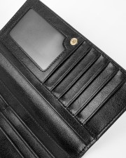 Great-Grandma Just Above Queen Women's Leather Wallet Vertical aos-women-leather-wallet-close-up-03