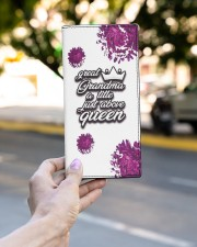 Great-Grandma Just Above Queen Women's Leather Wallet Vertical aos-women-leather-wallet-vertical-lifestyle-front-02