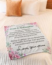 "Dear Great-Granddaughter Small Fleece Blanket - 30"" x 40"" aos-coral-fleece-blanket-30x40-lifestyle-front-01"
