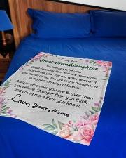 "Dear Great-Granddaughter Small Fleece Blanket - 30"" x 40"" aos-coral-fleece-blanket-30x40-lifestyle-front-02"
