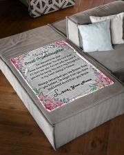 "Dear Great-Granddaughter Small Fleece Blanket - 30"" x 40"" aos-coral-fleece-blanket-30x40-lifestyle-front-03"