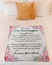 "Dear Great-Granddaughter Small Fleece Blanket - 30"" x 40"" aos-coral-fleece-blanket-30x40-lifestyle-front-04"