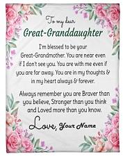 "Dear Great-Granddaughter Small Fleece Blanket - 30"" x 40"" front"