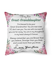 Dear Great-Granddaughter Indoor Pillow tile