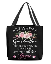 Great-Grandmother Special  All-over Tote front