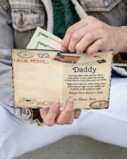 Daddy First Father's Day Men's Leather Wallet aos-men-leather-wallet-lifestyle-front-14