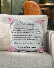 """Mommy First Mother's Day  Indoor Pillow - 16"""" x 16"""" aos-decorative-pillow-lifestyle-front-04"""