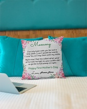 """Mommy First Mother's Day  Indoor Pillow - 16"""" x 16"""" aos-decorative-pillow-lifestyle-front-14"""