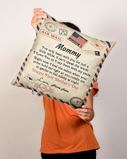 """Mommy First Mother's Day  Indoor Pillow - 16"""" x 16"""" aos-decorative-pillow-lifestyle-front-02"""