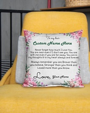 "Family Custom Names Indoor Pillow - 16"" x 16"" aos-decorative-pillow-lifestyle-front-01"