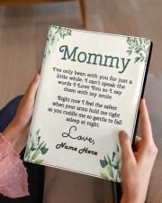Mommy First Mother's Day Medium - Leather Notebook aos-medium-leather-notebook-lifestyle-front-07