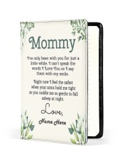 Mommy First Mother's Day Medium - Leather Notebook front