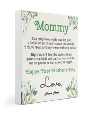Mommy First Mother's Day 11x14 Gallery Wrapped Canvas Prints front