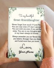 My Beautiful Great-Granddaughter Medium - Leather Notebook aos-medium-leather-notebook-lifestyle-front-04