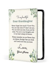 My Beautiful Great-Granddaughter Medium - Leather Notebook front