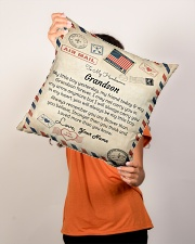 """To My Handsome Grandson Indoor Pillow - 16"""" x 16"""" aos-decorative-pillow-lifestyle-front-02"""