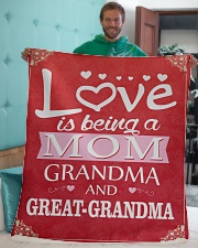 """Great-Grandma Special Sherpa Fleece Blanket - 50"""" x 60"""" aos-sherpa-fleece-blanket-50x60-lifestyle-front-05"""