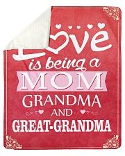 "Great-Grandma Special Sherpa Fleece Blanket - 50"" x 60"" front"