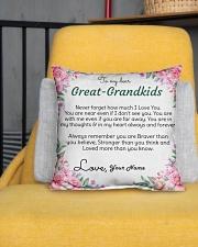 "Dear Great-Grandkids Indoor Pillow - 16"" x 16"" aos-decorative-pillow-lifestyle-front-01"