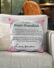 "Dear Great-Grandkids Indoor Pillow - 16"" x 16"" aos-decorative-pillow-lifestyle-front-04"