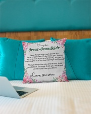 "Dear Great-Grandkids Indoor Pillow - 16"" x 16"" aos-decorative-pillow-lifestyle-front-14"