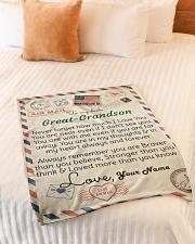 "Dear Great-Grandson Small Fleece Blanket - 30"" x 40"" aos-coral-fleece-blanket-30x40-lifestyle-front-01"
